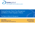 Patient flow management and metrics in public hospitals in Mexico