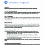 Additionality talking points