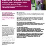 Cost Effectiveness: Achieving impact at an equal or lower cost than other sources of care