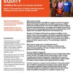 Equity: Enabling the poor to access services
