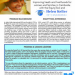 EquityTool Case Study: Improving heath and livelihoods for women and families in Cambodia with Helen Keller International