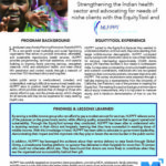 EquityTool Case Study: Strengthening the Indian health sector and advocating for needs of niche clients with HLFPPT