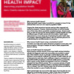 Health Impact: Improving population health