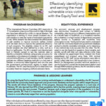 EquityTool Case Study: Effectively identifying and serving the most vulnerable crisis victims with the International Rescue Committee