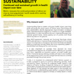Sustainability: Continued and sustained growth in health impact over time