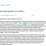 Ensuring Equitable Service Delivery