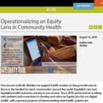 Operationalizing an Equity Lens in Community Health