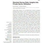 Standard Survey Data: Insights Into Private Sector Utilization